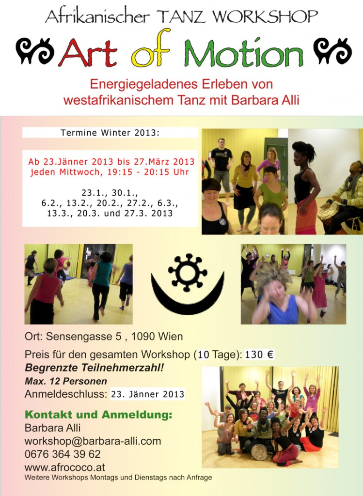 Afro Tanz mit Barbara Alli Winter 2013